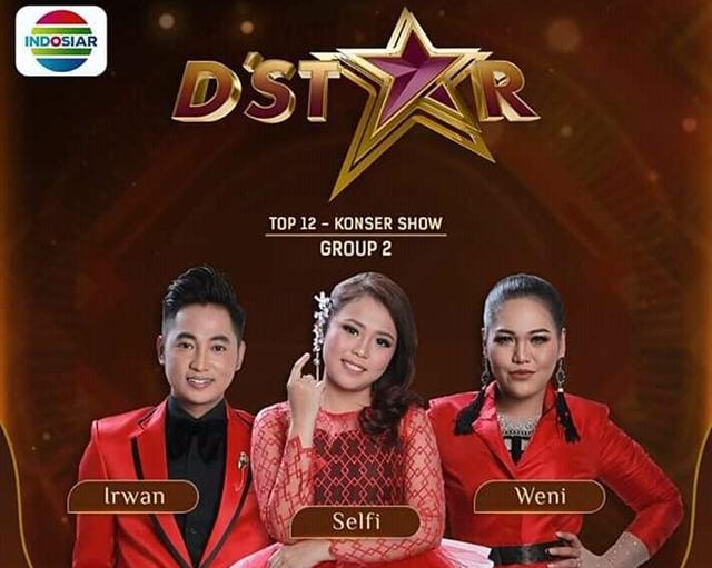 Hasil Konser Grup 2 Top 12 D'Star Indosiar 2019 Tadi Malam