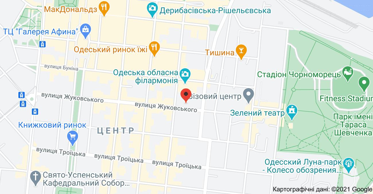 SAVAGE Барбершоп Одесса на картах Google Maps