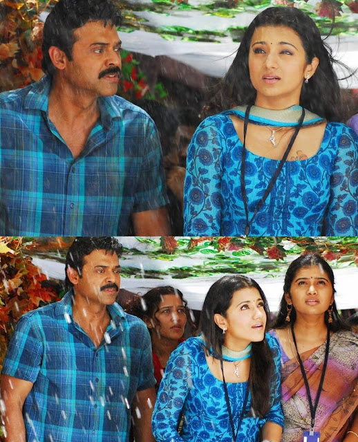 Throwback stills of Actor Venkatesh daggubati & Actress trisha krishnan starrer Aadavari Matalaku Arthale Verule