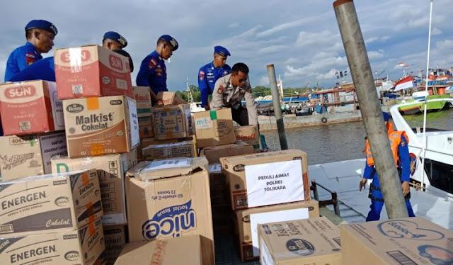 Polda Papua Salurkan Bantuan ke Kabupaten Asmat