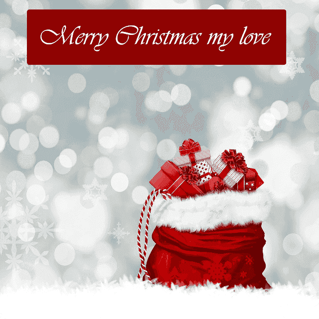 I love you, merry christmas images