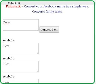 Fb stylish name list