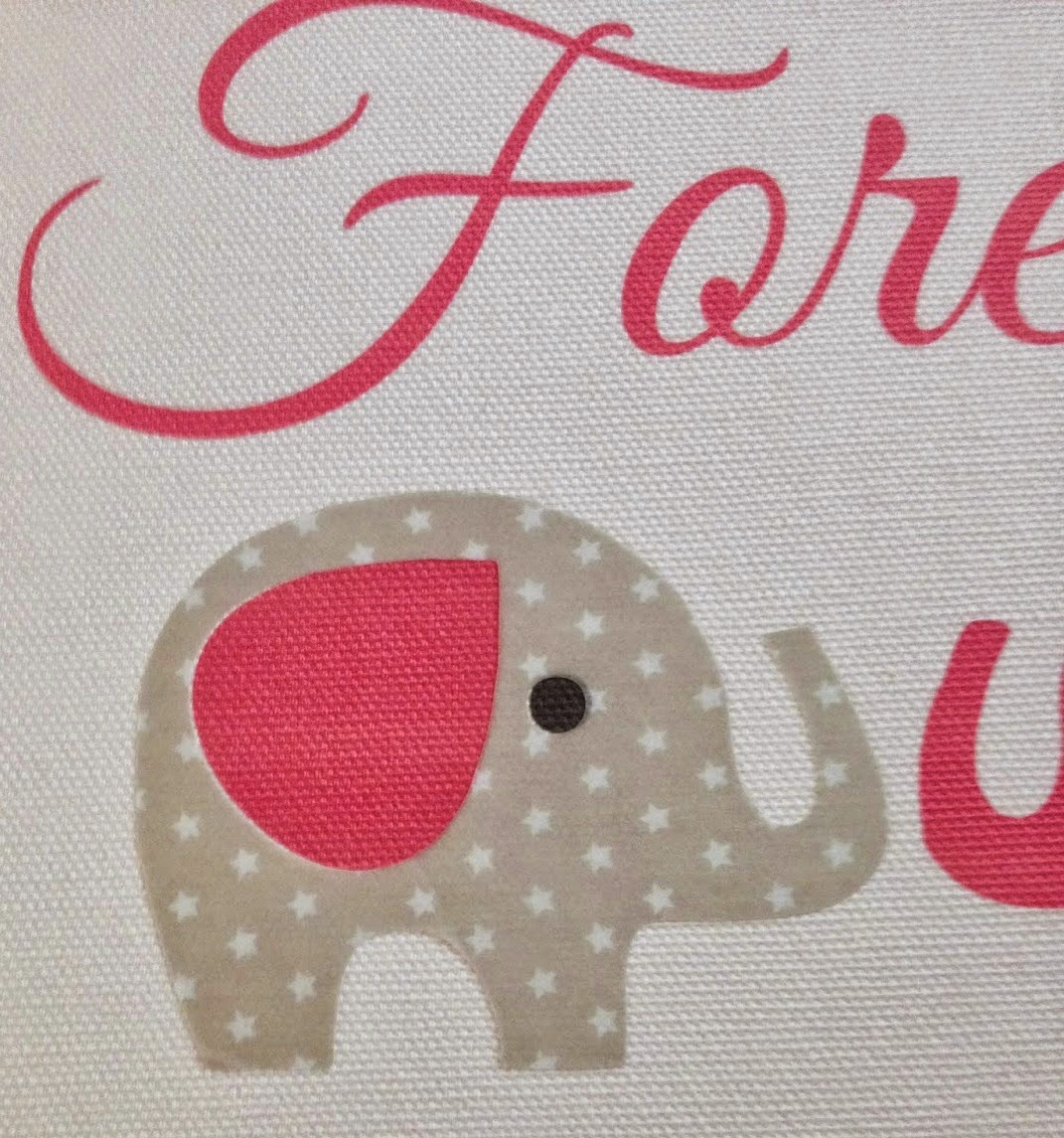 DIY, do it yourself, nursery, art, Silhouette Tutorial, elephant, text, canvas