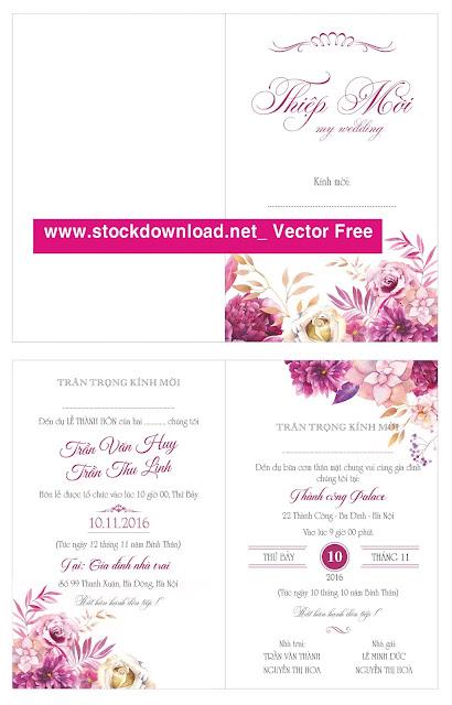 Vector thiệp cưới miễn phí cực chất.
