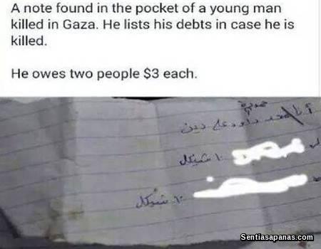 Pemuda Palestin Yang 'Takut' Mati Kerana Berhutang RM1.30!
