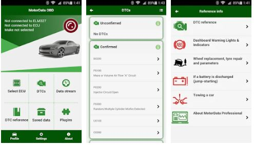 MotorData OBD Car Diagnostics. ELM OBD2 scanner APK