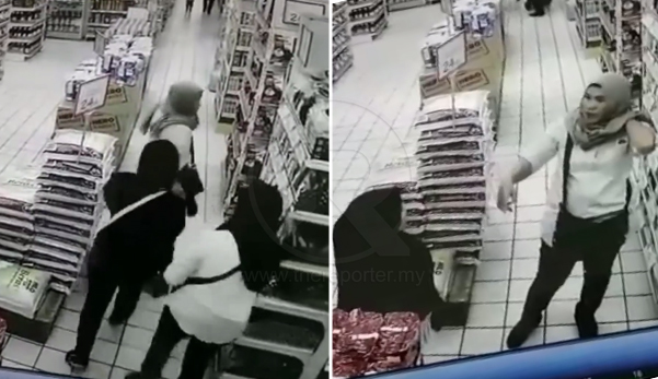 (Video) 'Dik, tandas kat mana ye?' - Wanita alami kerugian, barang kemas disamun selepas dipukau di pasar raya