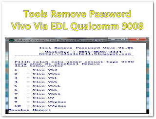 Tools Remove Password Vivo Via EDL Qualcomm 9008