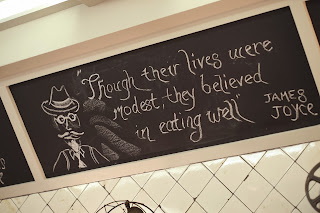 Though their lives were modest, they believed in eating well. James Joyce