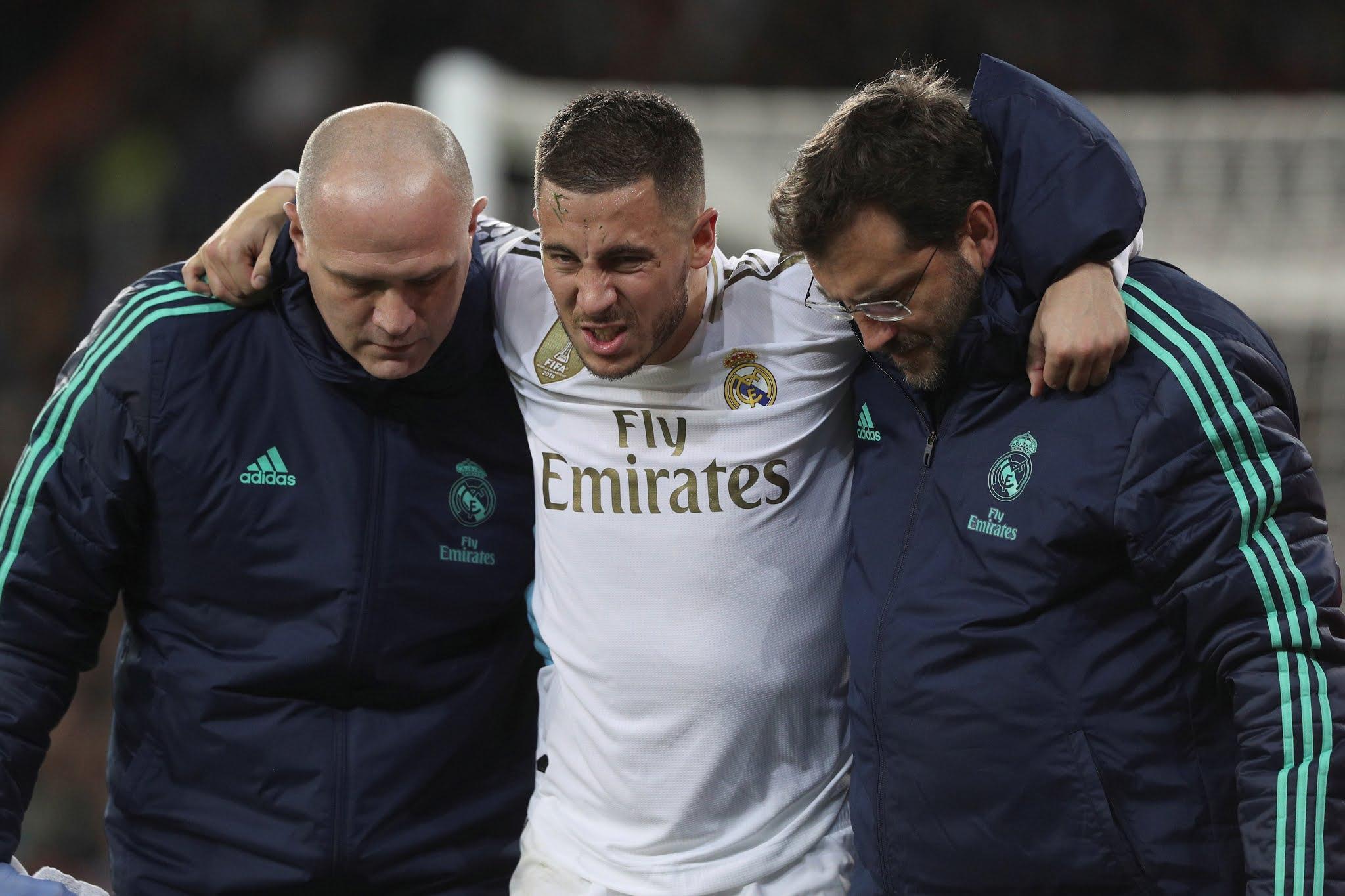 Eden Hazard otra vez es baja en Real Madrid por una lesión
