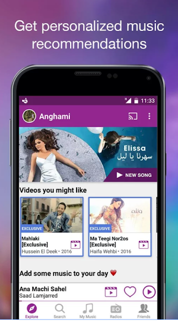 anghami pour android