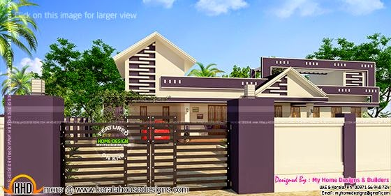 Kerala single floor home