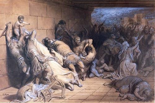 O Martírio dos Santos Inocentes - Gustav Doré e suas pinturas ~ Pintor, desenhista e inlustrador francês