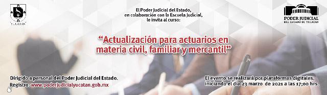 Curso de actualización para actuarios en el Poder Judicial