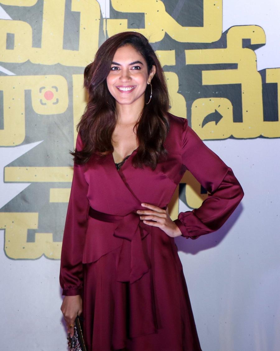 Indian Actress Ritu Varma at Meeku Maathrame Chepta Team Party