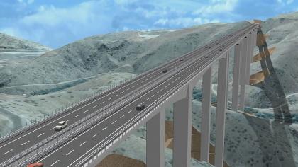 بمشاركة الرئيس التركي رجب طيب أردوغان إفتتاح أعلى جسر في تركيا يوم السبت