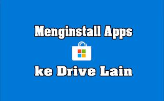 Menginstall Apps ke Drive Lain