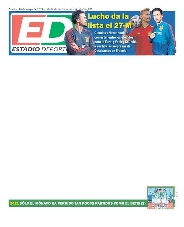 """Estadio Deportivo: """"2021: Sólo el Mónaco ha perdido tan pocos partidos como el Betis"""""""