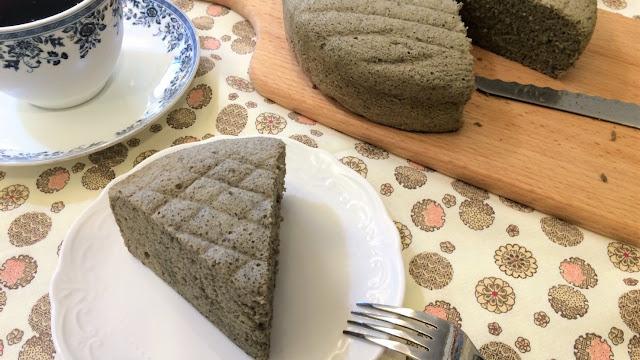 米蛋糕做法(二):椰香紫米水蒸戚風蛋糕