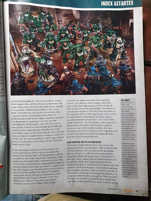 Filtraciones Warhammer 40k Angeles Oscuros