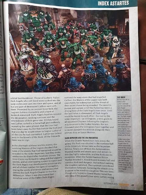 Filtraciones Warhammer 40k Angeles Oscuros