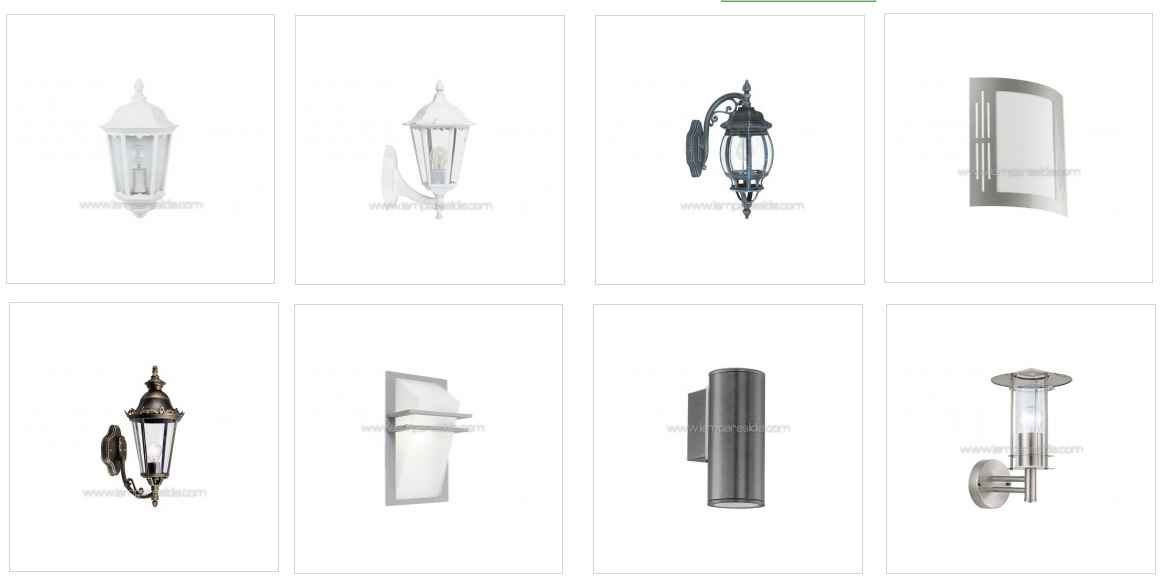 Iluminaci n y l mparas en madrid apliques de exterior for Apliques exterior modernos