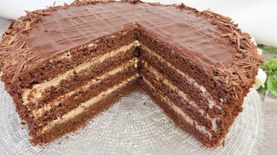 Čokoladna Torta s Najljepšom Kremom | Chocolate Cake with Perfect Cream Filling