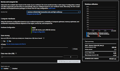 Azure SQL DB Business Critical Provisioned