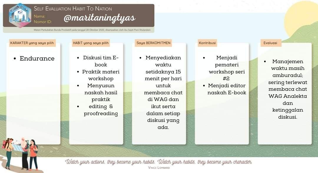 self evaluation maritaningtyas