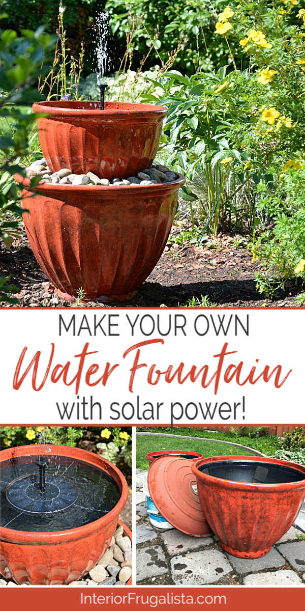 Solar Plant Pot Water Fountain In Under
