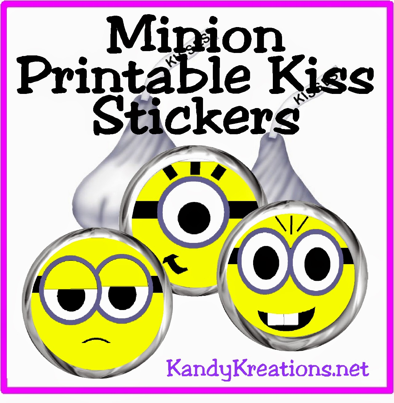 give your friends and guests some minion kisses with these free minion kiss stickers that can