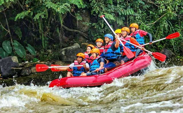 wisata arung jeram way bsai rafting lampung barat