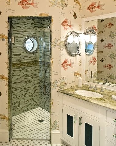 Porthole Window Bathroom Shower