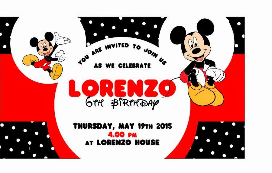 Ataro Designs Desain Ulang Tahun Tema Mickey Mouse