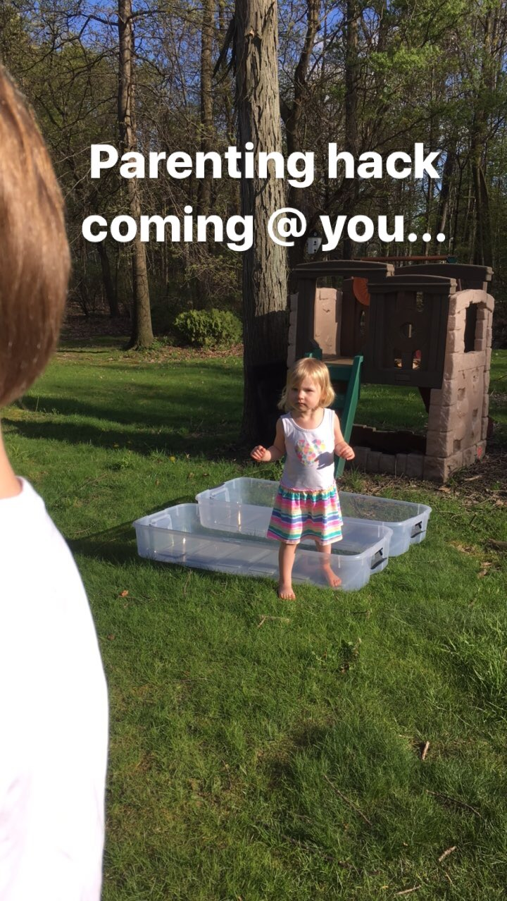 young not powerless parenting hack diy covered sandbox for less