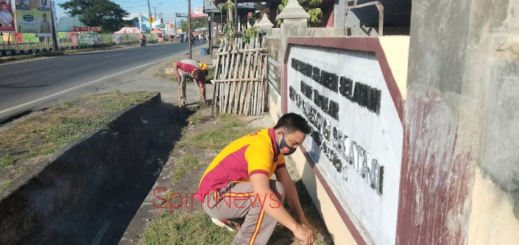 Jaga lingkungan Bersih dan Sehat, Kapolsek Galsel Pimpin Korvey