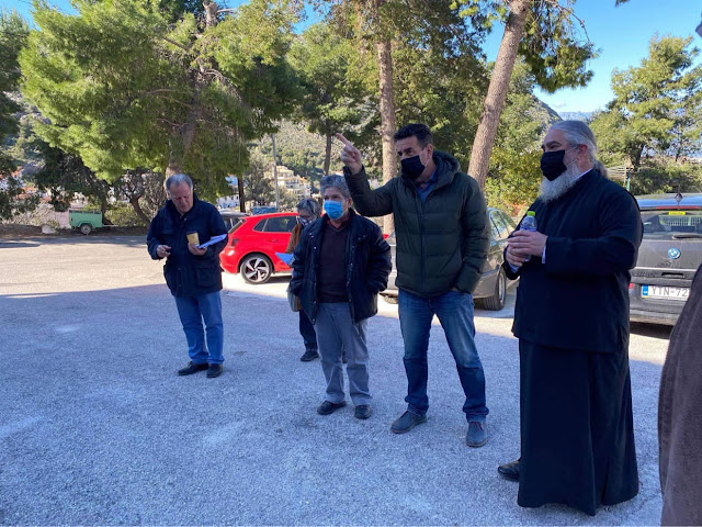 Ναύπλιο: Επίσκεψη Κωστούρου και φορέων στο εργοτάξιο του κτιρίου στην Ευαγγελίστρια