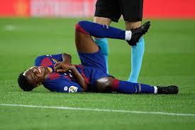 اصابة أنسو فاتي لاعب برشلونة