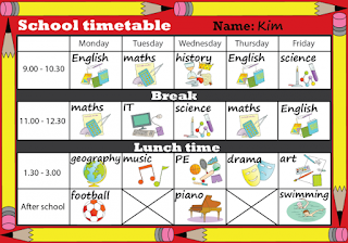 http://learnenglishkids.britishcouncil.org/en/writing-practice/school-timetable