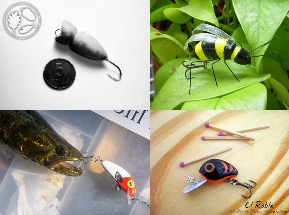 el roble taller de pesca handmade ultraligh fishing lures señuelos ultralivianos spinning ul