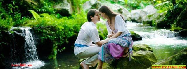Ảnh bìa lãng mạn cho Facebook - Cover FB romantic timeline, bờ suối thơ mộng cho anh yêu em