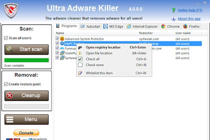 Ultra Adware Killer 7.8.0.0