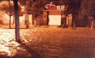 Madrugada chuvosa registra 90 mm em cidade da Paraíba
