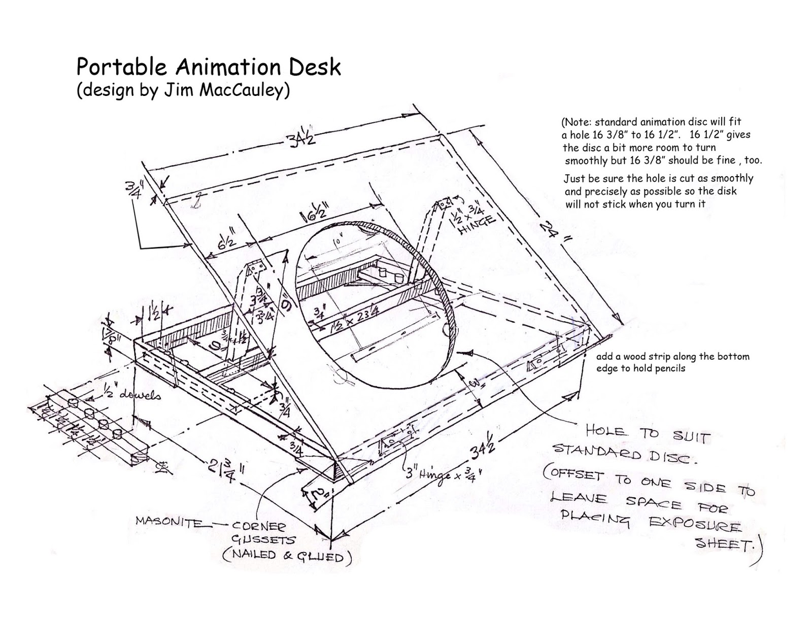 Here Is A Link Showing Sheridan College Animation Student Brock Gallagher  Making An Animation Desk Very Similar To The One Shown In The Plans Above: