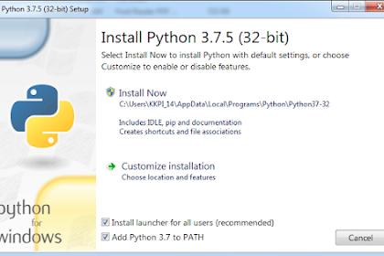 Cara Mudah Install Python 3.7 di Windows