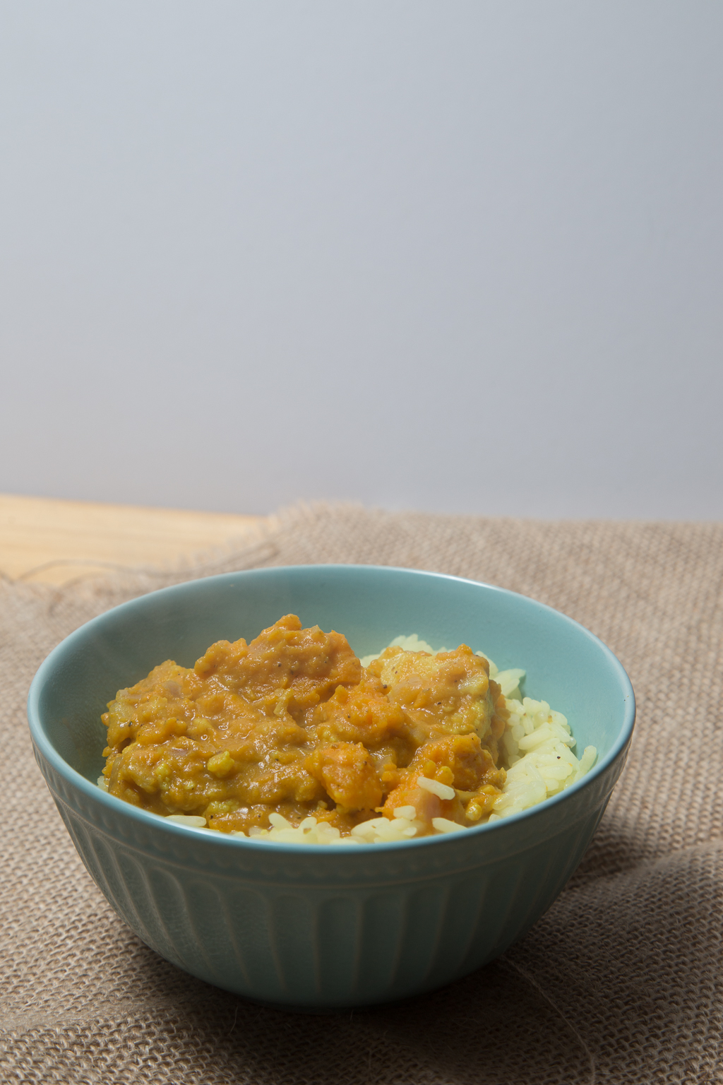 Vegan sweet potato and coconut curry recipe