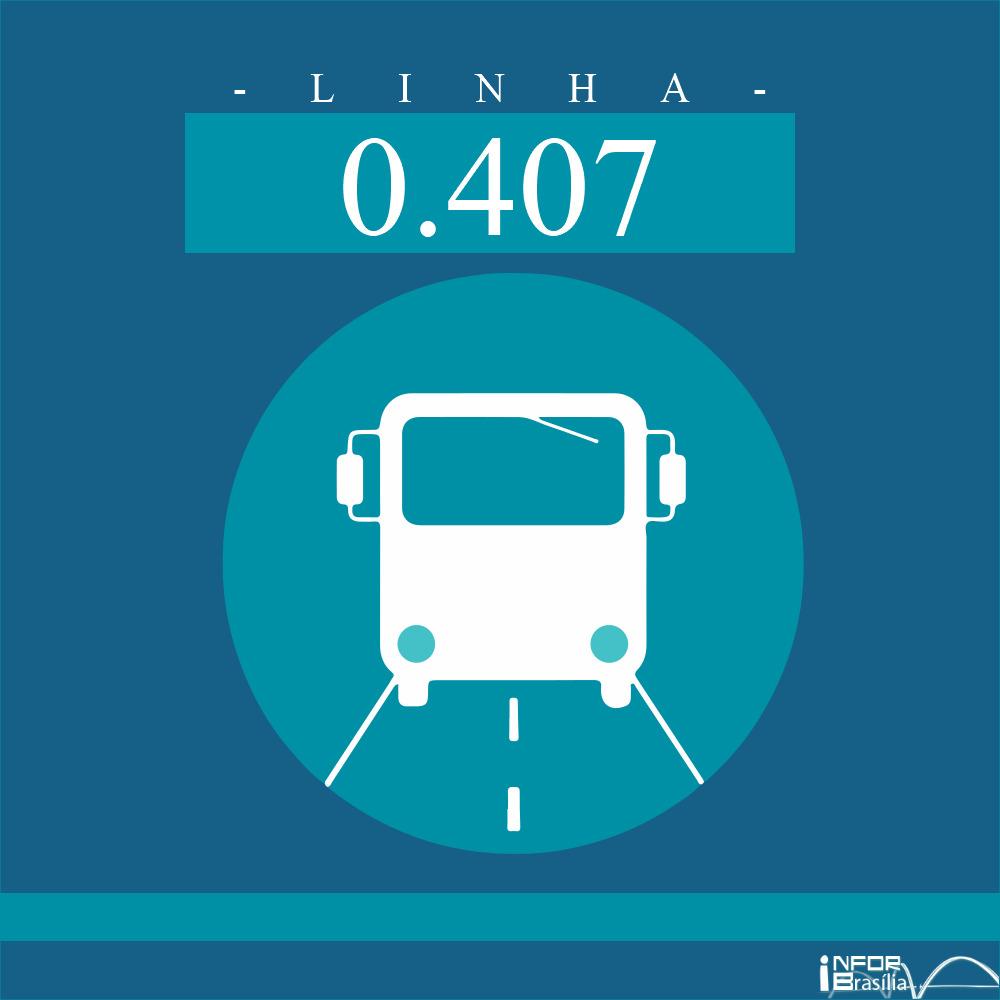 Horário de ônibus e itinerário 0.407 -