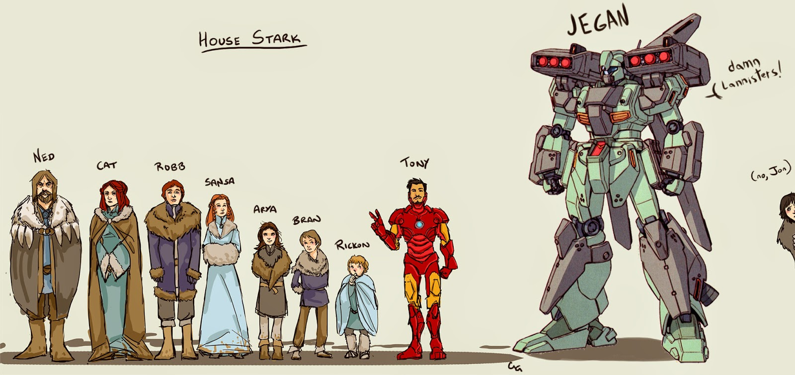 Fanart Game Of Thrones House Stark With Tony Stark And