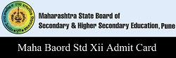 Maha (MSBSHSE) HSC - XII Std Admit Card 2017