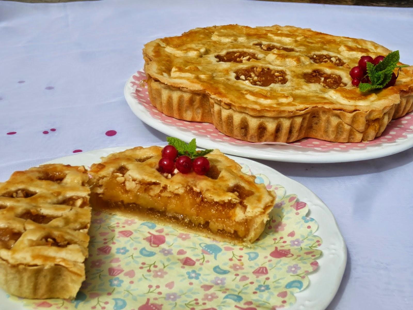 Pie o pastel de compota de manzana y cabello de ángel Ana Sevilla cocina tradicional